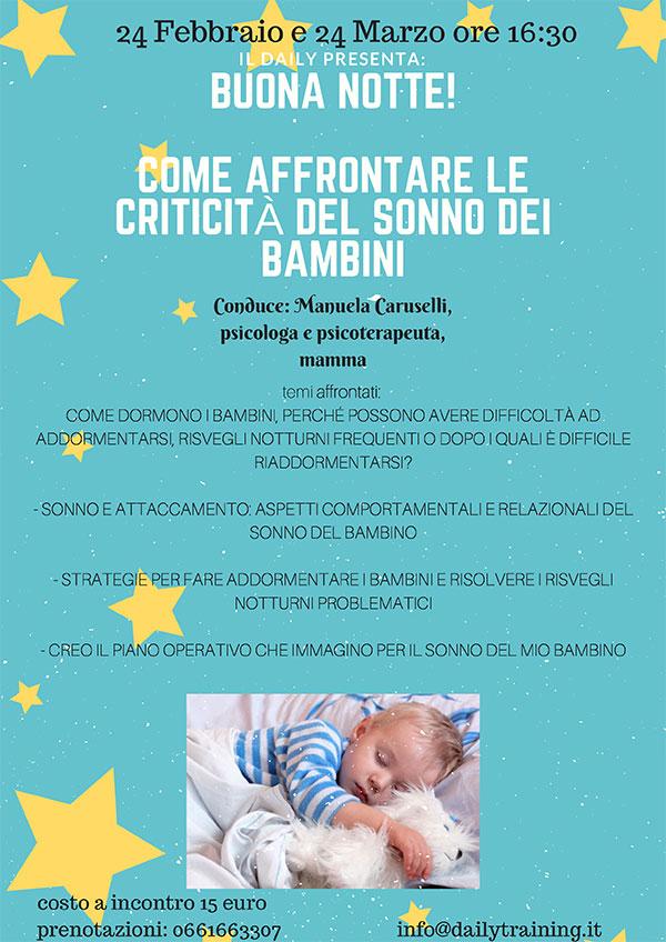 Laboratorio sui disturbi del sonno nei bambini