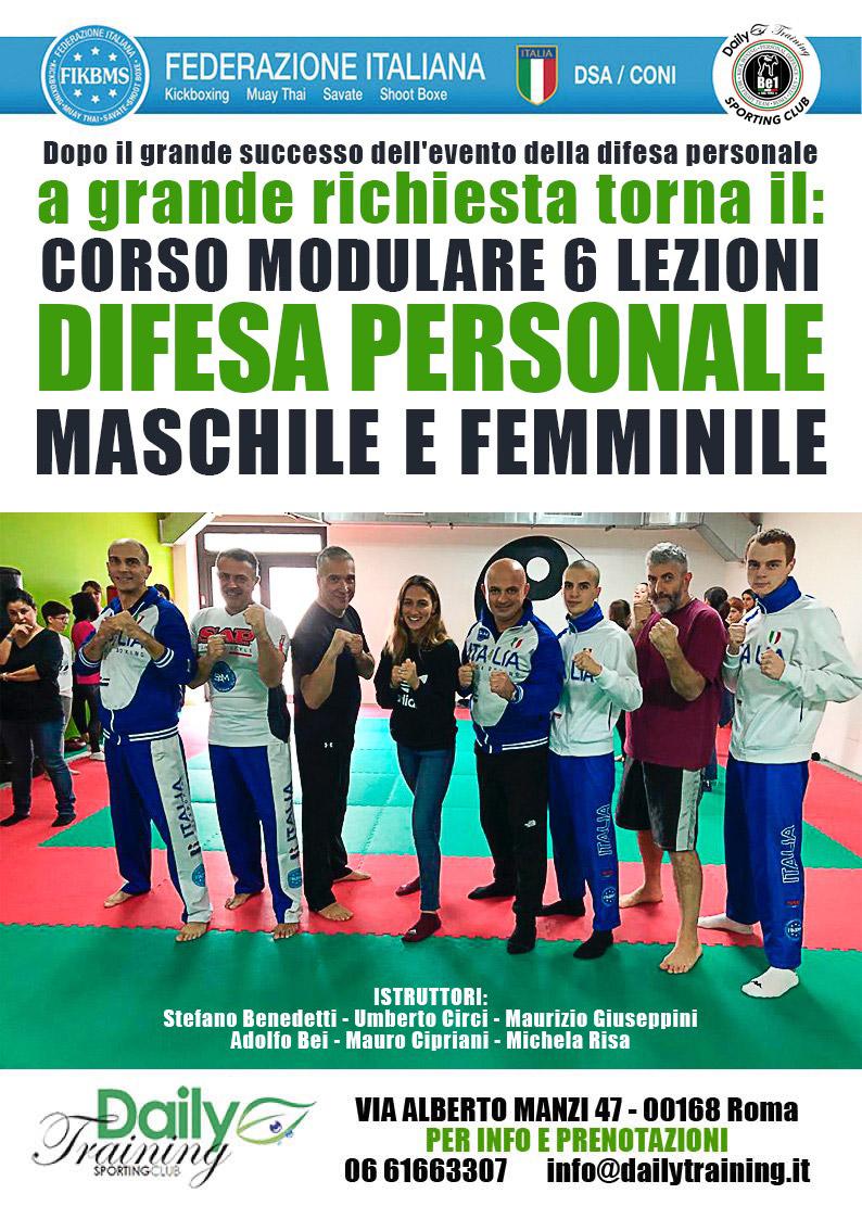 Corso di Difesa Personale a Roma